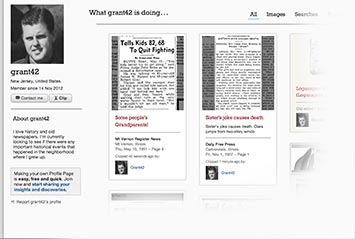 Profile page on Los Angeles Times Archive